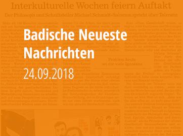 Badische Neueste Nachrichten - 24.09.2018